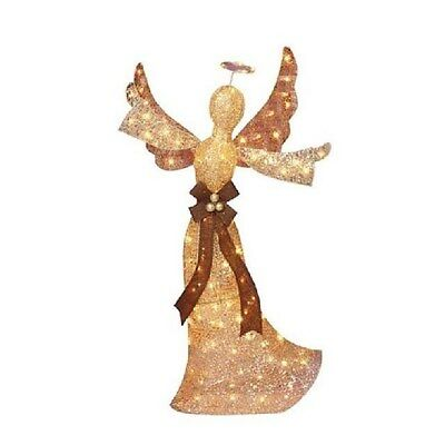 """48"""" Lighted Champagne Angel Christmas Yard Decor (New in Box) - FREE SHIPPING"""