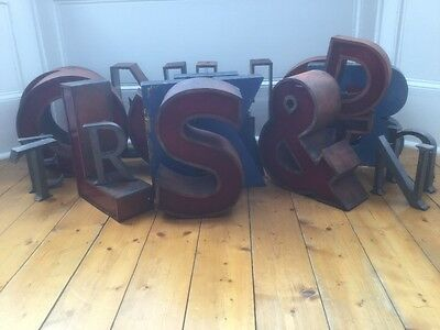 1950/60's Copper/Perspex Letter S Sign Name Initial Prop Industrial