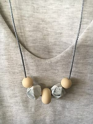 Silicone Necklace Australia for Mum (was Teething) Beads Aus Gift Marble Sensory