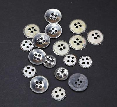 18 Repro US Civil War Era Tin Buttons (7 small & 11 large) for Shirts & Trousers