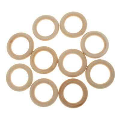 10/20/50/100pcs Natural/Colorful Wood Loop Rings Wood Materials for DIY Projects