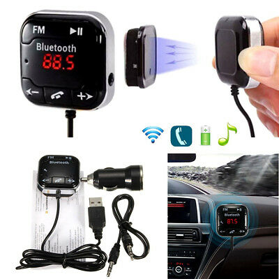 Magnet Car Kit Wireless Bluetooth SD FM Transmitter AUX LCD Handsfree MP3USB New