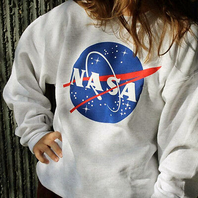 """NASA"" Women's Casual Long Sleeve Hoodie Sweatshirt Jumper Pullover Tops Coat AU"