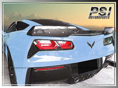 Stage 2 Carbon Fiber Trunk Spoiler Lip For 2014-2018 Chevrolet Chevy Corvette C7