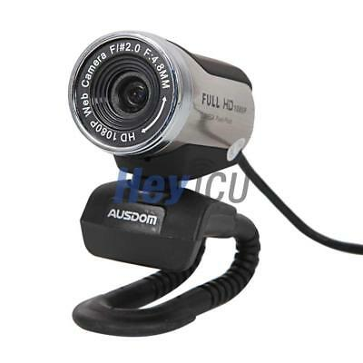 10 Pcs AUSDOM 1080P Full HD 12.0M USB Webcam Video Camera with Mic for PC Skype