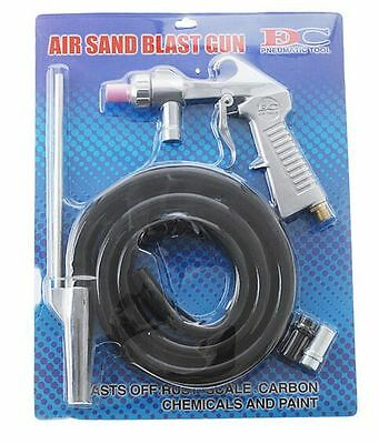 Air Sandblasting Gun Kit Pneumatic Sandblaster Spray Gun Tool