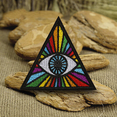 Punk Triangle Eye Embroidery Sew On Iron On Patch Badge Fabric Applique Craft