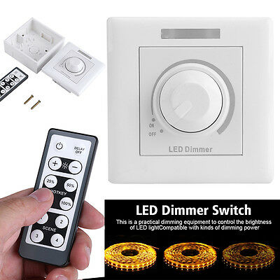 AC 110V/220V LED Light IR Remote Dimmer Control Wireless Wall Switch Lighting