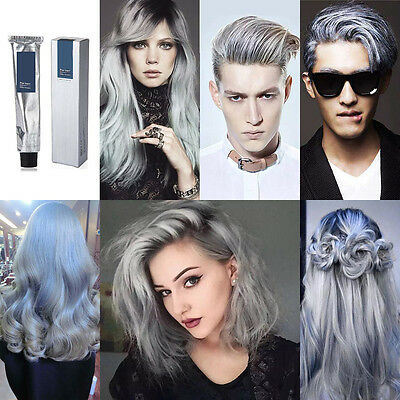 Cream DIY Color Hair Dye Light Permanent Grannyhair Fashion Light Gray Silver