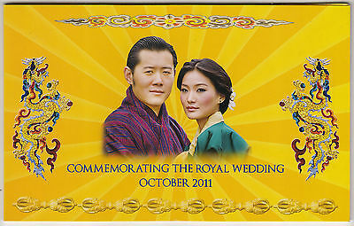 "2011 Bhutan Royal Wedding Folder With ""100 Ngultrum Commemorative Note"""
