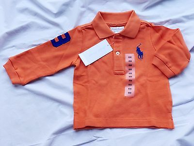 Polo Ralph Lauren 6 9 month infant baby boy unisex orange 00 0 branded gift