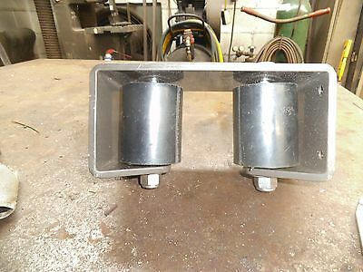 """2"""" Aluminum Rolling gate alignment brackets with rollers and SS bolts"""