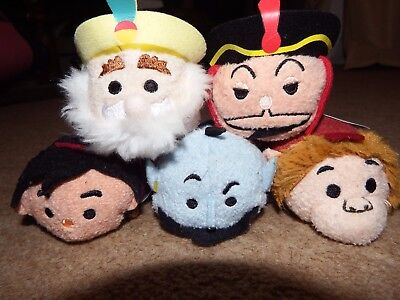 NEW Disney Aladdin Tsum Tsum soft plush figure toy set Abu Jafar Genie Sultan