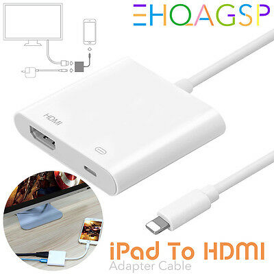2017 8 Pin Lightning to Digital AV Adapter HDMI Cable For iPhone 7 6 6S iPad Air
