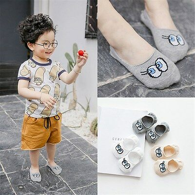 Cartoon Eyes Invisible Ankle Socks 3 Pairs Baby Infant Toddler Short Sock