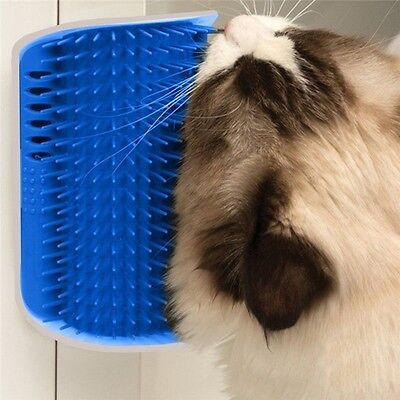 Pet Cat Self Groomer Brush Wall Corner Grooming Massage Comb Cat Toy With Catnip