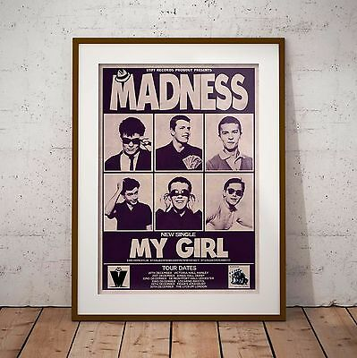Madness 1979 Early Concert Poster Print Ska Three Sizes NEW 2017 Exclusive