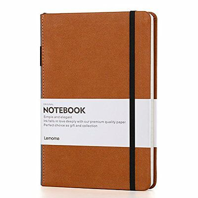 Dotted Bullet Journal/Notebook - Lemome A5 Hardcover Dot Grid Notebook with P...