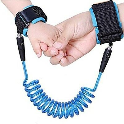 Safety Bracelet Anti Lost Wrist Link Flexible Rope Toddlers Kids Protection