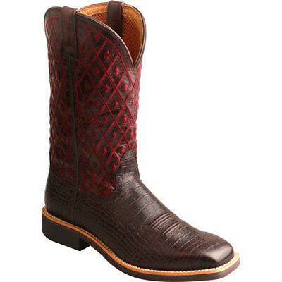 WTH0014 Twisted X Women's Top Hand Caiman Print Square Toe Cowgirl Boots NEW
