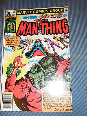 Marvel Comics- Man Thing  #11 Issue 1981  Fine Condition