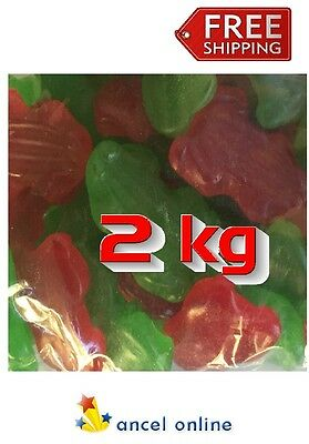 2kg Allseps Frog Red Green Gummy Sweets Bulk Lollies Party Favors Candy Buffet
