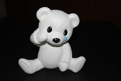 Ceramic 'Boo' Bear White- 17x17 x 9cm Suitable for Painting or Decoupage Project
