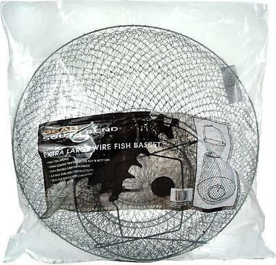 South Bend Round Wire Fish Basket (19-Inch X 30-Inch) - Wire Fish Bag 19X30 X -