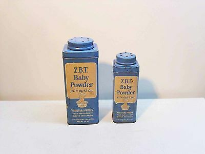 2 Z. B. T. Baby Powder With Olive Oil Tins