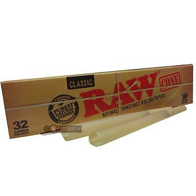 RAW Classic Mega Pack Cones - 32  Pre Rolled Rolling Paper Cone - Fresh Stock