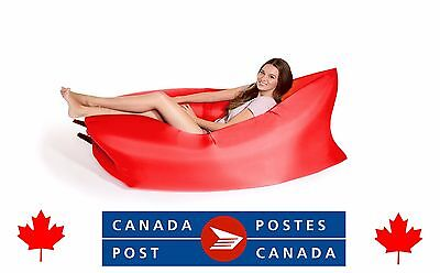 Inflatable lounge EZ chair lounger sofa air bed Ships from Vancouver BC Canada