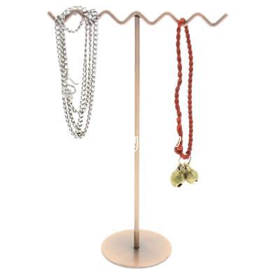 Wavy T Shape Jewelry Organizer Display Necklace Bracelet Hanging Holder Stand