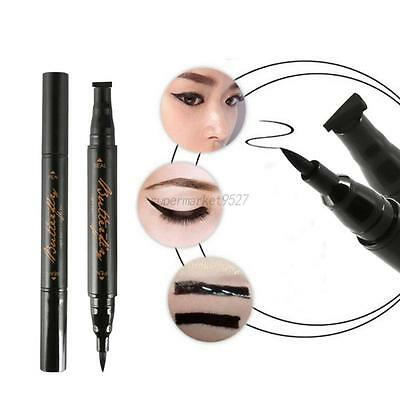 Stamp Eyeliner Waterproof Makeup Cosmetic Eye Liner Pencil Liquid Easy Makeup
