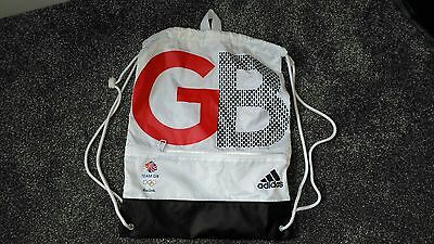 Team GB Rio 2016 Gym Bag White Boot Drawstring with Compartment