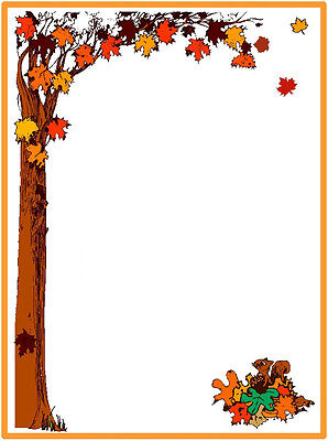 Fall Stationary 25 Sheets Fall Tree with Leaves