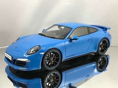 GT Spirit Porsche 911 (991) Carrera 4S Aerokit Cup Package Blue Resin Model 1:18