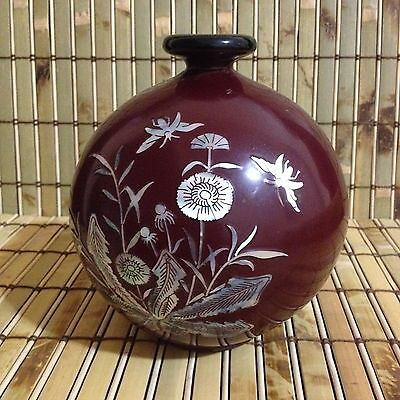Mother-of-Pearl Korean Inlaid Lacquer Vase