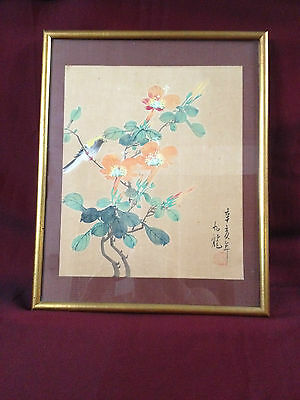 Hand Painted Chinese Art on Silk