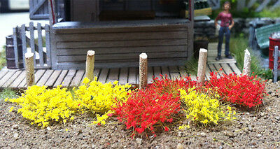 """Bachmann-Grass Tufts - SceneScapes(R) -- Yellow, Red 1/4""""  .6cm Tall Fibers pkg("""