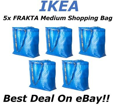 **SALE** 5pc IKEA FRAKTA Medium Reusable Eco Shopping Laundry Tote Travel Bags