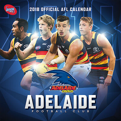 NEW Official 2018 Adelaide Crows AFL Calendar