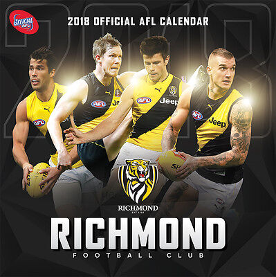 NEW Official 2018 Richmond Tigers AFL Calendar