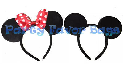 Minnie And Mickey Mouse Ears Headbands Adult Kid Halloween Costume Black Red  sc 1 st  PicClick & MINNIE And Mickey Mouse Ears Headbands Adult Kid Halloween Costume ...