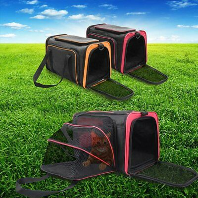 Small One-Side Expandable Foldable Pet Travel Carrier Handbag Kennel Cat Dog Bag