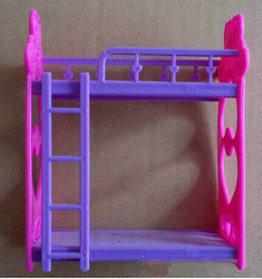 1 Set Barbie Beds With Ladder Bedroom Furniture BDAU
