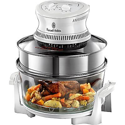 Russell Hobbs 18537 Halogen Oven 16L with Timer for Home Kitchen, 1400W - Silver