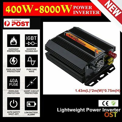 400W-8000W DC 12V to AC 220V Solar Power Inverter Car Power Convertisseur