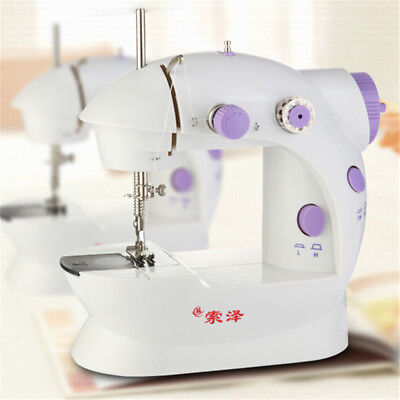 Mini Household Sewing Machine Electric Overlock Cutter Double Speed Automatic