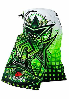 Men's Quiksilver Boardshorts Quick-Dry Green, Black and White Sizes: 30 - 38