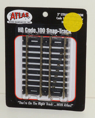 "Atlas 3"" Straight Sections, Packet of 4, OO/HO"